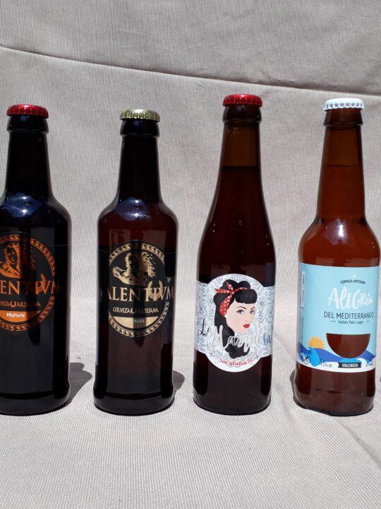 Pack de 6 cervezas artesanas.